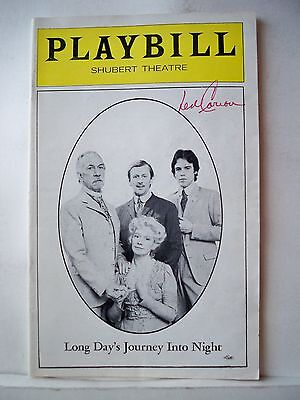 Gentle Long Day's Journey Into Night Playbill Len Cariou Autographed Boston Ma 1977 Autographs-original