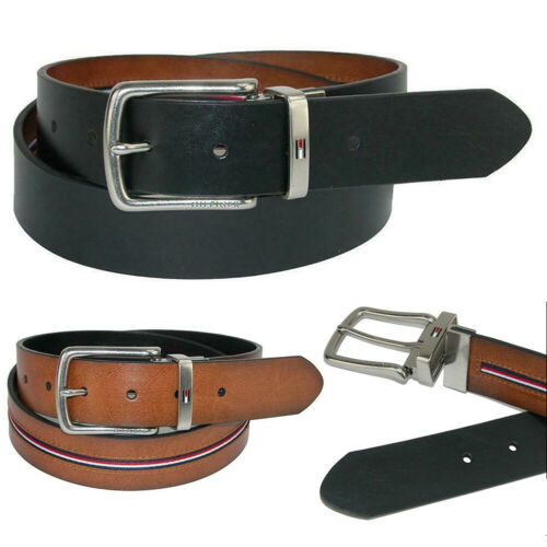 Tommy Hilfiger Men/'s 11TL02X212 Reversible Ribbon Inlay Belt