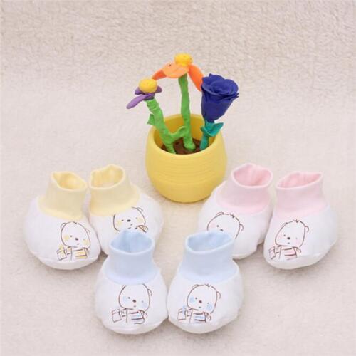 Newborn Baby Boy Girl Unisex Cartoon Cotton Breathable Soft Socks Shoes Boots T