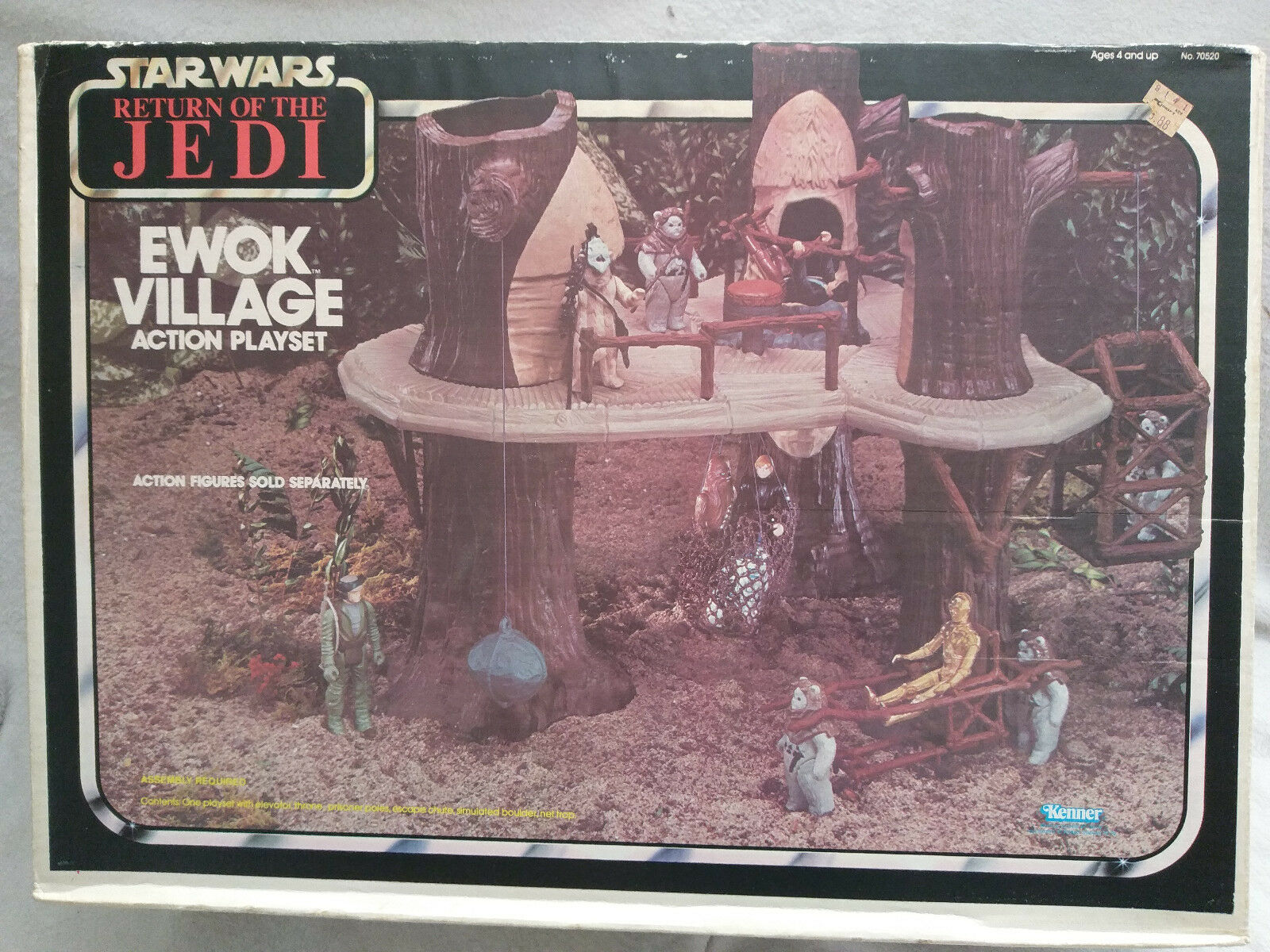 Estrella Wars rojoj Ewok Village 1983