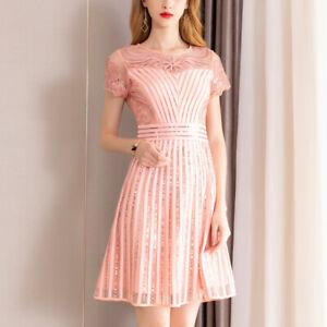 8a0e73ce147e Caricamento dell immagine in corso Elegante-abito-vestito-tubino-morbido- rosa-cipria-scampanato-