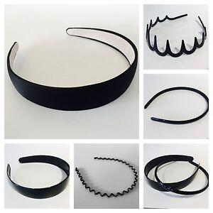 Black plastic Alice band hair headband gripper teeth wide   narrow ... 6e0830b0fe4