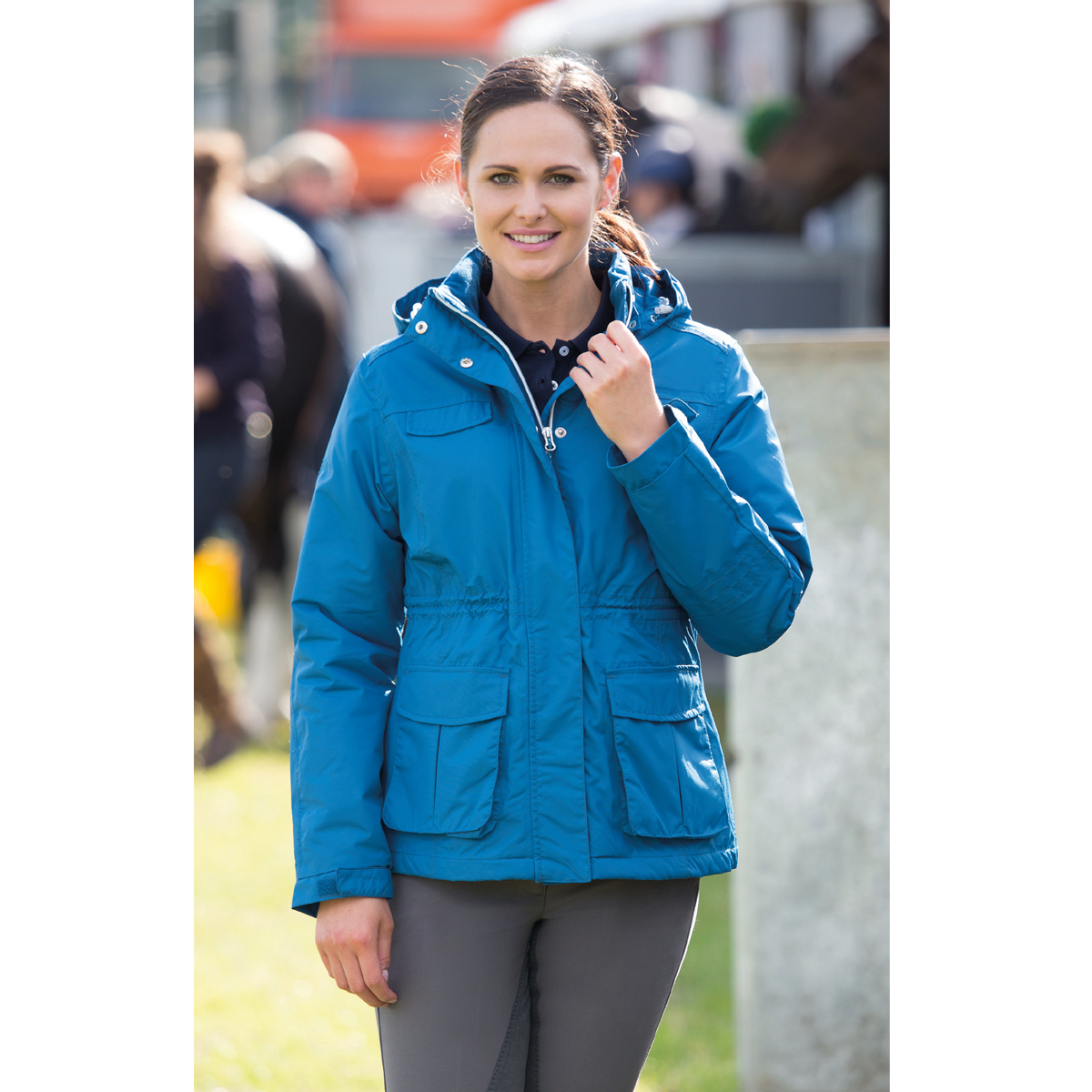 Shires Team Field Jacket - Petrol Blau