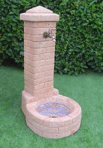 Bonfante fontana fontanella da giardino pietra ricostruita orlando tabacco ebay - Fontana in pietra da giardino ...