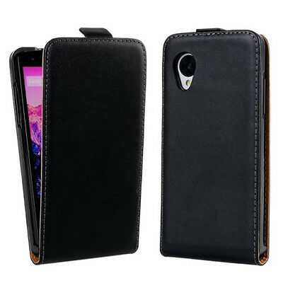 Magnetic Closure Vertical Flip Genuine Leather Phone Cases Covers For LG Nexus 5