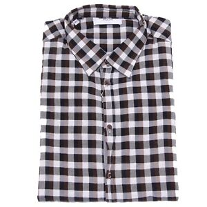new product e0020 e7831 Dettagli su 5468U camicia uomo AGLINI RICCARDO4 brown/black/white shirt men