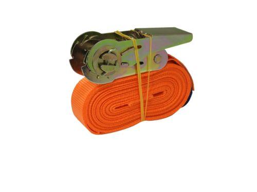 Spanngurt 6m 500 daN kg Zurrgurte Ratsche Ratschengurt DIN EN 1 Teilig Orange