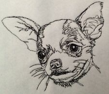Completed Embroidery Chihuahua Puppy