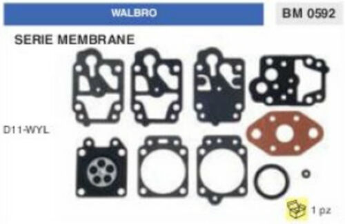 D 11 WYL KIT SERIE MEMBRANE membrana CARBURATORE WALBRO D11-WYL
