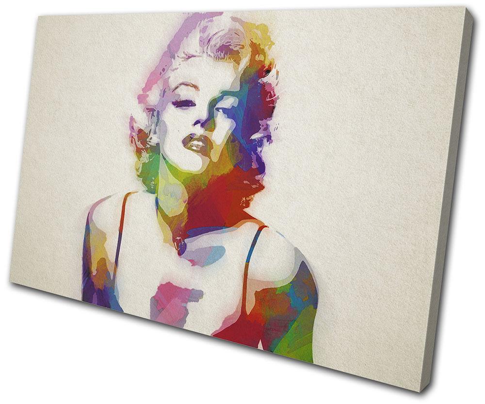 Iconic Celebrities Marylin Monroe Art  SINGLE TOILE murale ART Photo Print