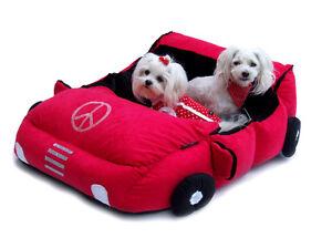 Lit pour chien convertible Pour chiens * Lit pour chien rouge, autobed, espace de couchage pour chien