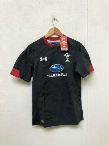 New Wales Rugby WRU Under Armour UA Men/'s Away Shirt Medium Black