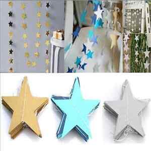 13ft-Star-Paper-Garland-Banner-Bunting-Drop-Baby-Shower-Wedding-Party-Decor-TR