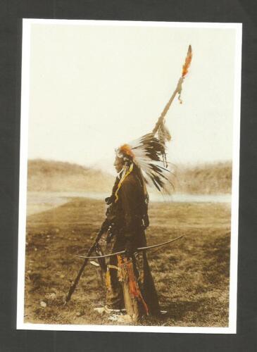 CARTE POSTALE INDIEN AMERIQUE LANCE  ARC ESPRIT DES PLAINES SPIRIT OF PLAIN