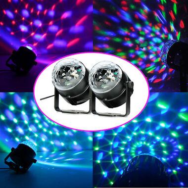2-Set LED RGB Crystal Ball Light