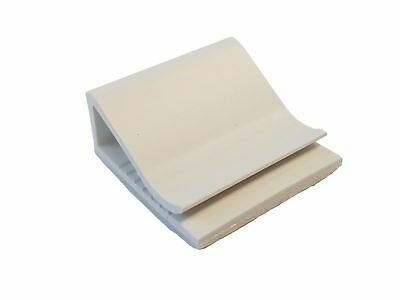 Flachkabelhalter Selbstklebend 25x25mm 25st Weiß O Grau Buy One Give One