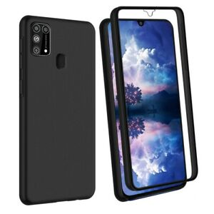 SDTEK Case for Samsung Galaxy M31 Full 360 Cover Front and Black Hard Back