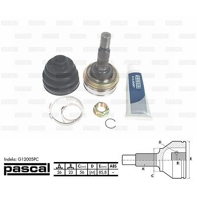 TOYOTA CARINA II T15 1 6 (62 55 63 kW) OUTER DRIVESHAFT CV JOINT PASCAL  G12005PC | eBay