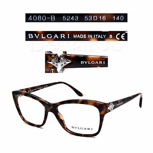 02b8b3d3d6fa BVLGARI 4080-B 5243 Eyeglasses 53 16 140 Rx - Made in Italy - New ...