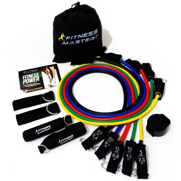 11pc Resistance Bands Carry Case Premium Quality For