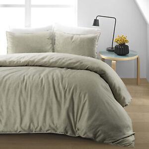 Conjunto-de-Edredon-de-cama-Edredon-cubierta-Funda-de-Almohada-de-Algodon-Lino-Liso-Individual-Doble