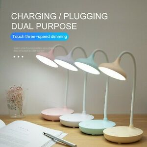 Bedside Desk Reading Lamp Table Lamps Dimmable Foldable Touch 2400 mAh