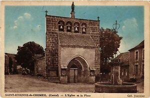 CPA St-Étienne-de-Chomeil - L'Église et la Place (480141)