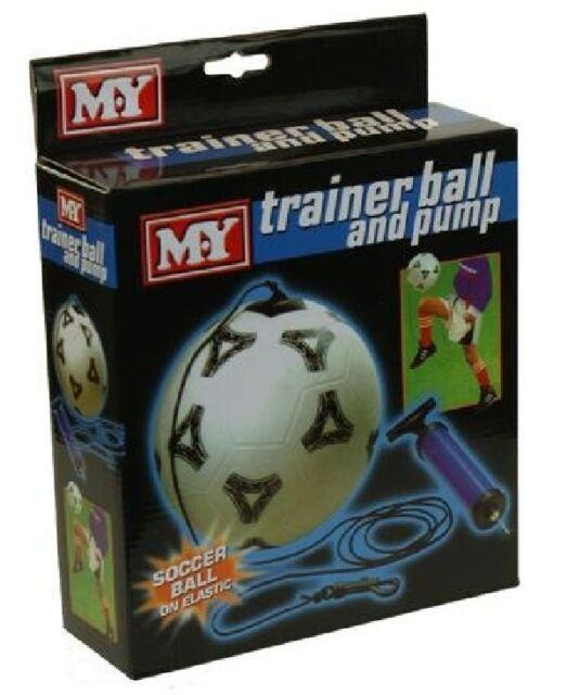 M.Y Trainer Practise Keep Ups Soccer Ball Football On Elastic Pump & Adaptor