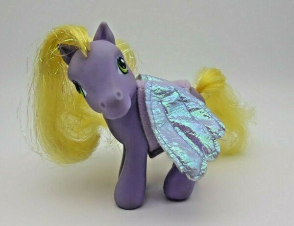 Collection Ici Figurine Mon Petit Poney My Little Pony Hasbro 2002 Violet Avec Scelle Aile Valeur Formidable