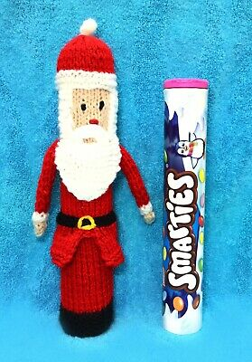 Gingerbread Man Smarties Sweet Holder 22 cms tall KNITTING PATTERN