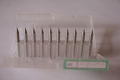 """10 Carbide Micro Drill 0.2mm / .0078"""" Pcb Cnc Dremel Cnc Jewelry Bits Tools New!"""