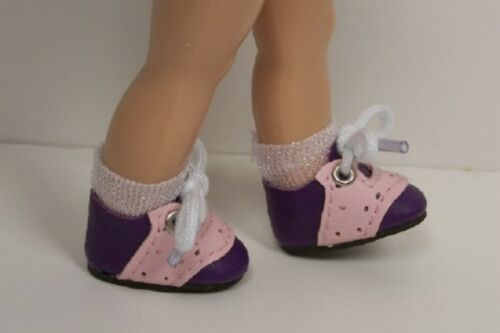 2-Tone PURPLE /& PINK Saddle Oxford Doll Shoes For Modern Ginny Debs