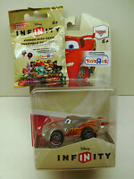 Disney Infinity Clear Lightning McQueen Toys R Us Exclusive and 2 Power Discs