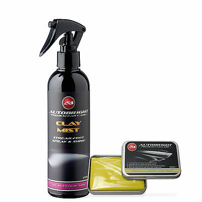Autobright Detailing medium Clay Bar Kit 100g & Car Cleaning 250ml Clay Mist