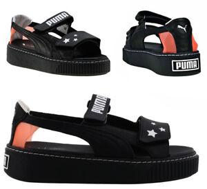 67b981ffa93a Puma x SOPHIA WEBSTER Platform Black Womens Hook   Loop Trainers ...