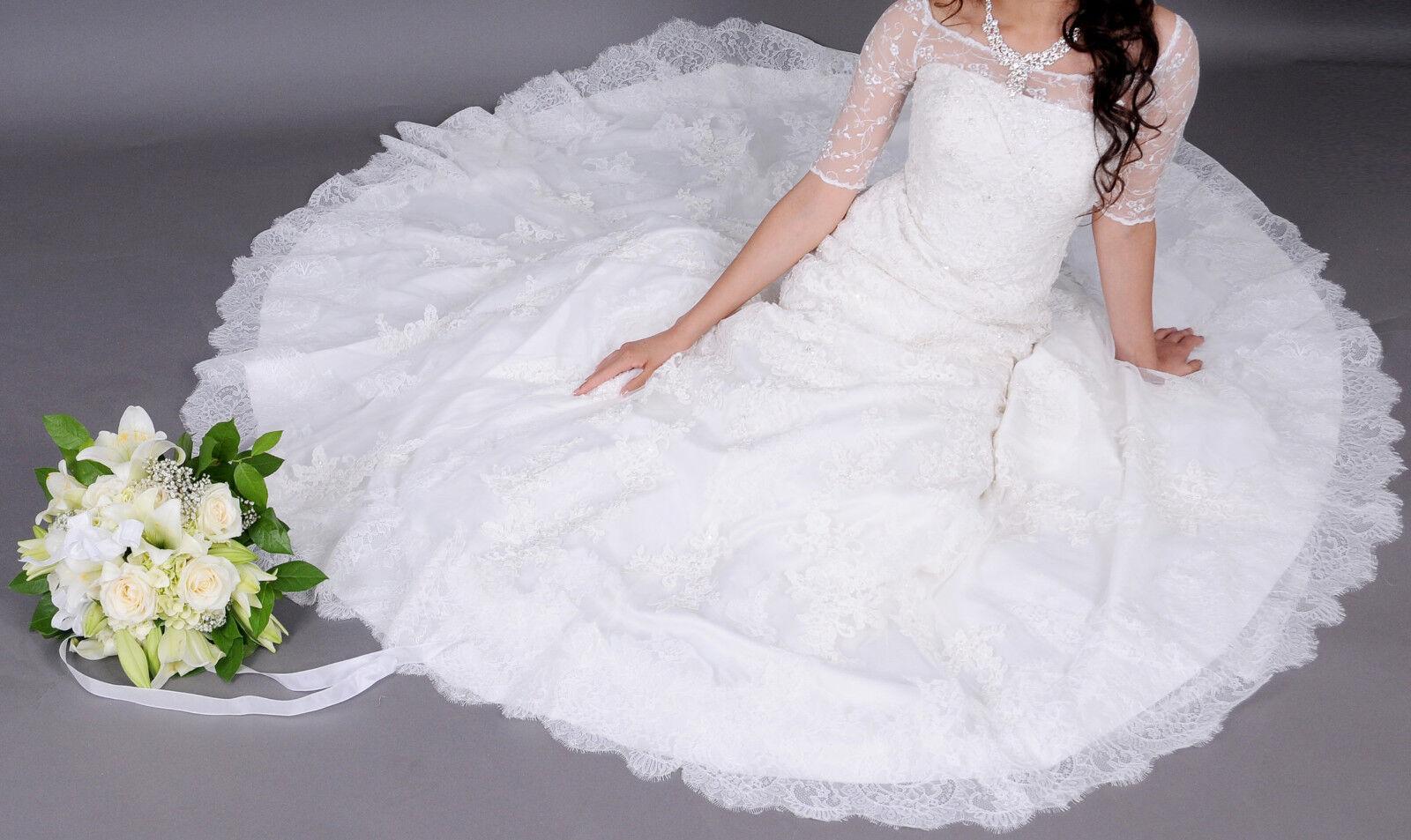 Traumkleid  Hochwertiges Brautkleid ( 1700 EUR), wie neu, Elfenbein, S-M