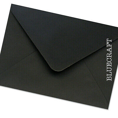 15 Black A6//C6 Cards /& White Envelopes Card Making Craft Invitations
