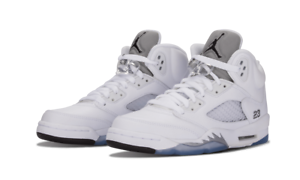 796320d190f67 Details about Air Jordan 5 V Retro BG White Black Metallic Silver  basketball 440888-130