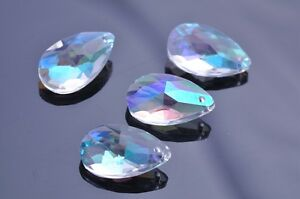 5pcs-38X22mm-Faceted-Teardrop-Crystal-Glass-Charms-Loose-Beads-Pendants-Clear-AB