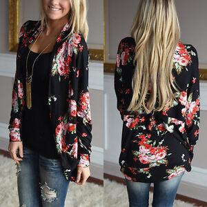 Fashion-Floral-Bomber-Jacket-Women-Tops-Long-Sleeve-Ladies-Jumpers-Cardigan-Coat