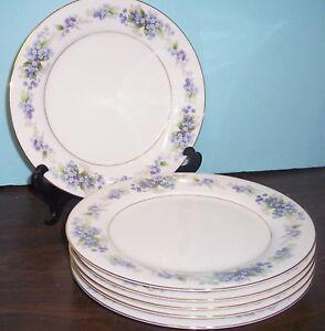 6-PC-NORITAKE-RAMONA-DINNER-PLATES-10-5-034-NEVER-USED-FREE-U-S-SHIPPING-5203