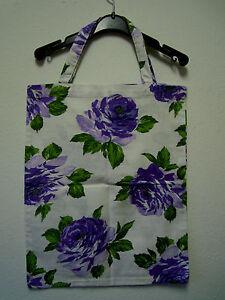 Neu Rosen Stoffbeutel 42x35cm Leinen Shopper Umwelttasche Tasche Handarbeit
