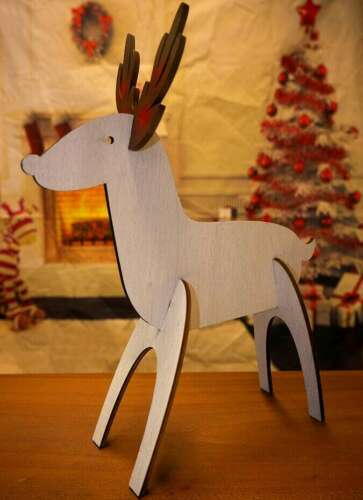 Make Your Own Wooden Christmas Reindeer Kit Home Decoration Stag Toy Ornament