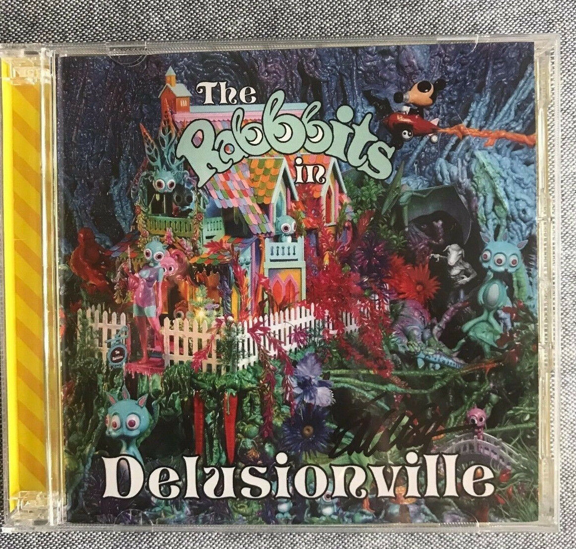 Ron English Signed Rabbbits Rabbbits Rabbbits in Delusionville RARE 2 CD Set Popaganda 6ef811