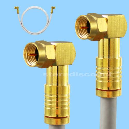 Sat-Câble 135 DB coudée 90 ° F-connecteur Digital Coaxial Antennes HD MILMEIT Golden