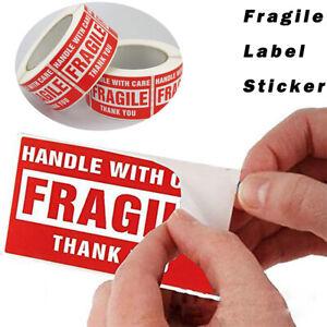 Details Zu Zerbrechlich Aufkleber Sticker Etiketten Vorsicht Glas Versand Umzug Paket Neu