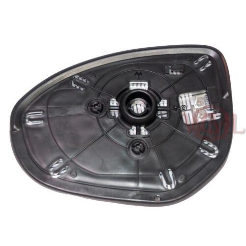 lado derecho Mazda 2 2007 /> 2014 Puerta//Ala Espejo De Cristal Convexo Calentado /& Base De Plata