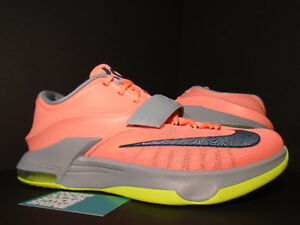 77934fd6fba6 2014 Nike KEVIN DURANT KD VII 7 35000 35K DEGREES MANGO PINK BLUE ...