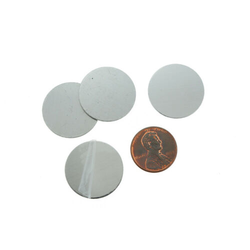 23.5mm Silver Tone Aluminum 10 Tags MT128 Circle Stamping Blanks