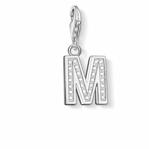 NEW GENUINE THOMAS SABO SILVER CUBIC ZIRCONIA LETTER INITIAL Z CHARM
